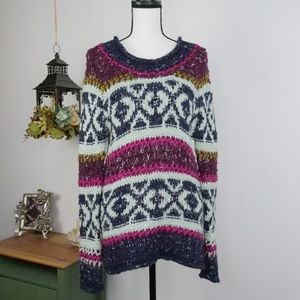 Free People Sweater Long Sleeve Thick Knit Sz S